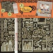 Dazzles Stickers, 2pk, Evan's Town