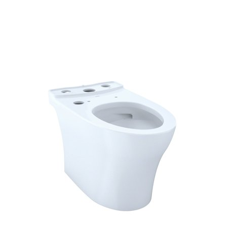 TOTO CT446CUGT40#01 Aquia IV WASHLET+ Elongated Skirted Toilet Bowl with CeFiONtect (Cotton White)