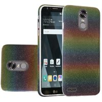 For LG Stylo 3 Stylo 3 Plus Hybrid Clear PC TPU with Glitter Shiny Sparkle Shockproof Phone Case Cover - Colorful