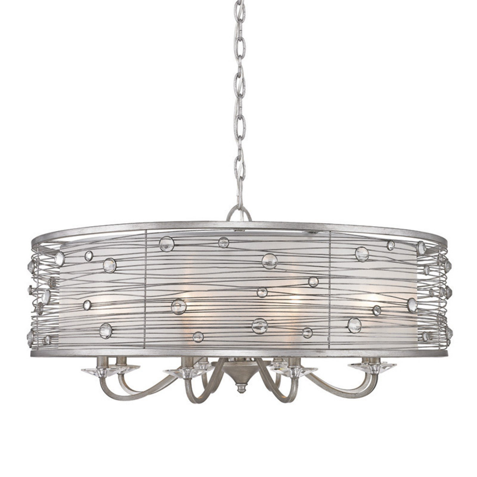 golden lighting chandelier. Golden Lighting Joia Eight Light Chandelier - Peruvian Silver Finish 6