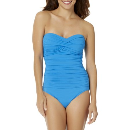 Anne Cole Women's Twist Shirred One Piece Swimsuit