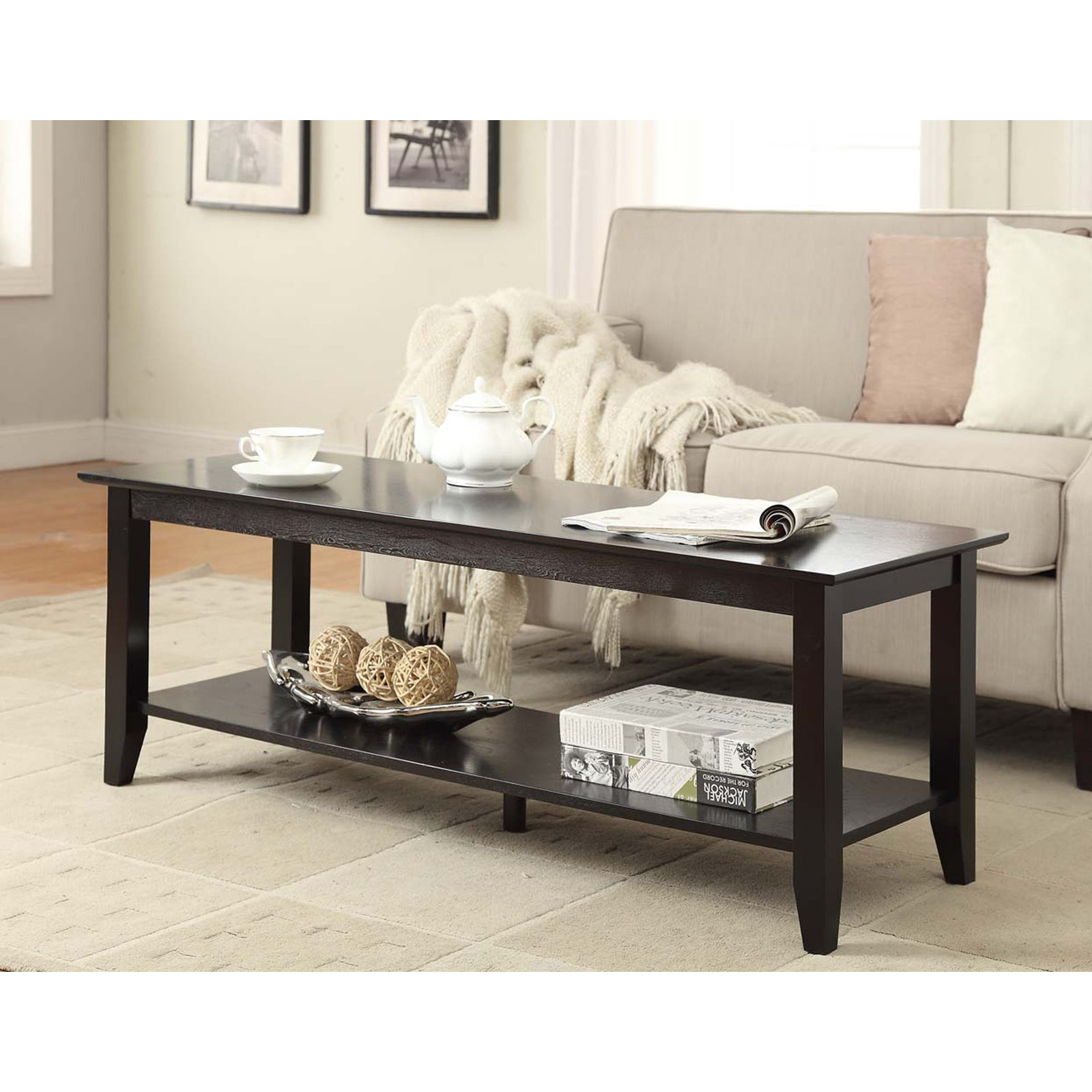 Convenience Concepts American Heritage Coffee Table, Multiple Finishes