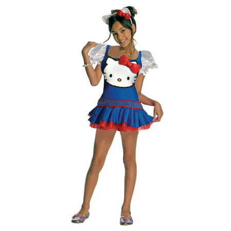 Hello Kitty Costume For Girls (Child Hello Kitty Blue Dress Costume Rubies)