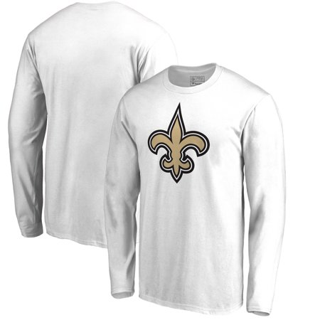 New Orleans Saints Team Mouse - New Orleans Saints NFL Pro Line by Fanatics Branded Team Primary Logo Long Sleeve T-Shirt - White