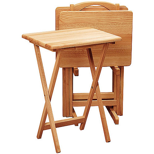 Rectangular TV Tables, Set of 4 with Stand,  Multiple Colors