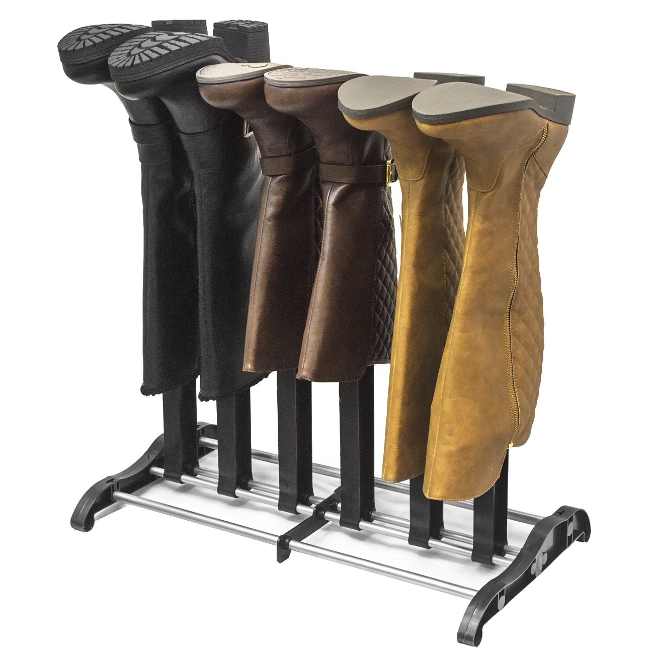Sorbus Boot Rack Shoe Storage Organizer, Holds 3 Pairs of Boots, Easy to Assemble, No Tools Required