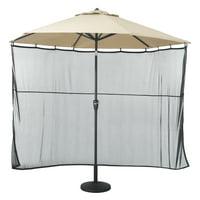 Classic Accessories Universal Patio Umbrella Shade Screen - Water Resistant Outdoor Furniture Cover, Black