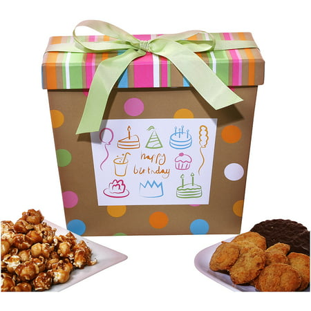 Alder Creek Gift Baskets Birthday Wishes Gift Box, 4 pc