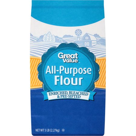 Great value all purpose bleached enriched pre sifted flour for Anrichte flur