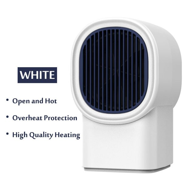 Reactionnx Space Heater 600w Electric Portable Hater With Overheat Protection For Home Office Bedroom And Bathroom Personal Desk Heater Walmart Com Walmart Com