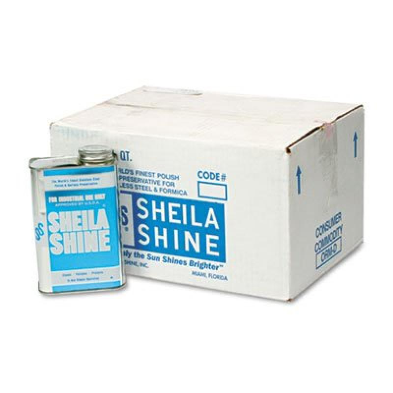 Sheila Shine Stainless Steel Cleaner & Polish, 1 Quart Ca...