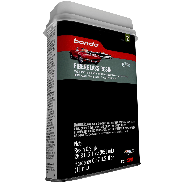 Bondo Fiberglass Resin, 00402, 0.9 Quart