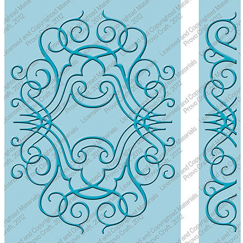 Provo Craft Cuttlebug Embossing Folder Set, Nathaniel's Penwork