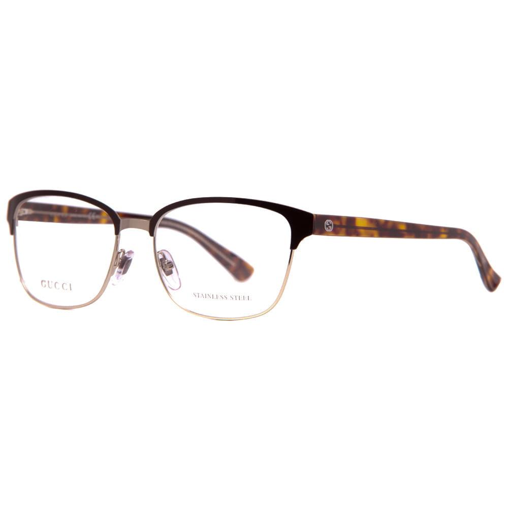 gucci gg 4272 2cs light gold brown havana crystal womens eyeglasses 54mm - Womens Gucci Frames