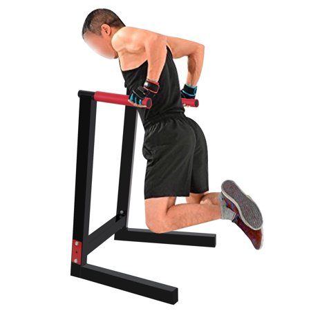 ZENY Heavy Duty Steel Dip Stand Parallel Bar Fitness Home Gym Dipping Station 440LBs (Seated Dip Machine)