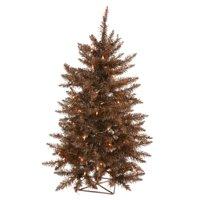 """Vickerman Artificial Christmas Tree 2' x 23"""" Mocha Tree Dura-lit LED 35 Warm White Lights"""