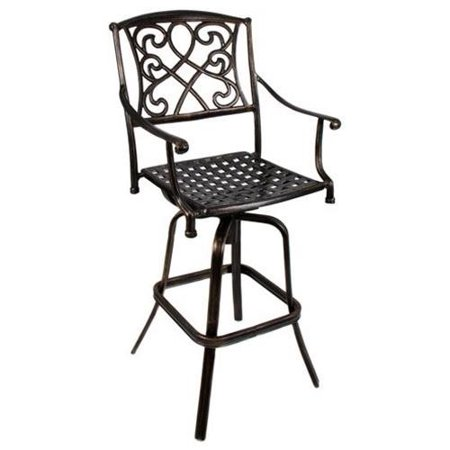 Best Choice Products® Outdoor Cast Aluminum Swivel Bar stool Patio Furniture Antique Copper Design ()