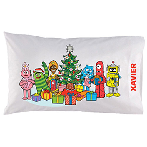 Personalized Yo Gabba Gabba! Christmas Time Pillowcase