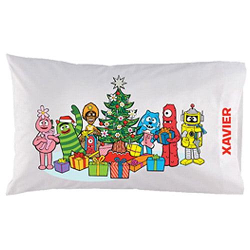 Personalized Yo Gabba Gabba! Christmas Time Pillowcase