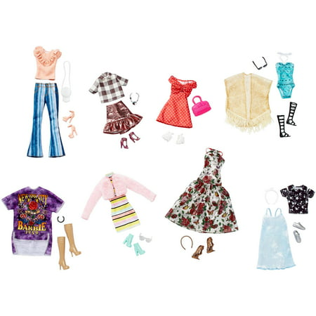 Barbie Fashions Multi-pack with 8-Outfits & Matching (Barbie Fashion Clothing)