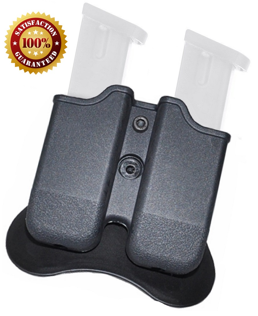 Glock Magazine Pouch, Double stack 9mm Magazine Holster, The Ultimate Double Stack Glock Holder with Paddle, 9mm and .40... by GoZier Tactical