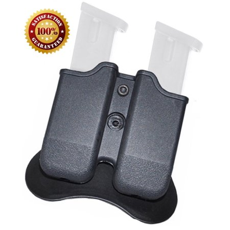 Glock Magazine Pouch, Double stack 9mm Magazine Holster, The Ultimate Double Stack Glock Holder with Paddle, 9mm and .40 Caliber Magazine