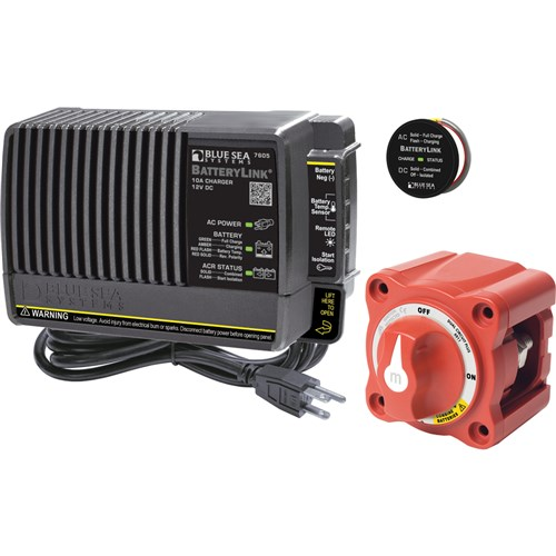 Blue Sea Systems 7655 Mini 10A 2-Bank Add-A-Battery Plus Kit with BatteryLink Charger