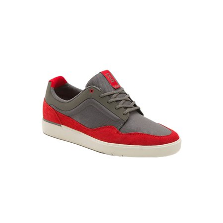 Vans Mens Lxvi Inscribe Sneakers greyred 6.5 (Unusual Vans Shoes)