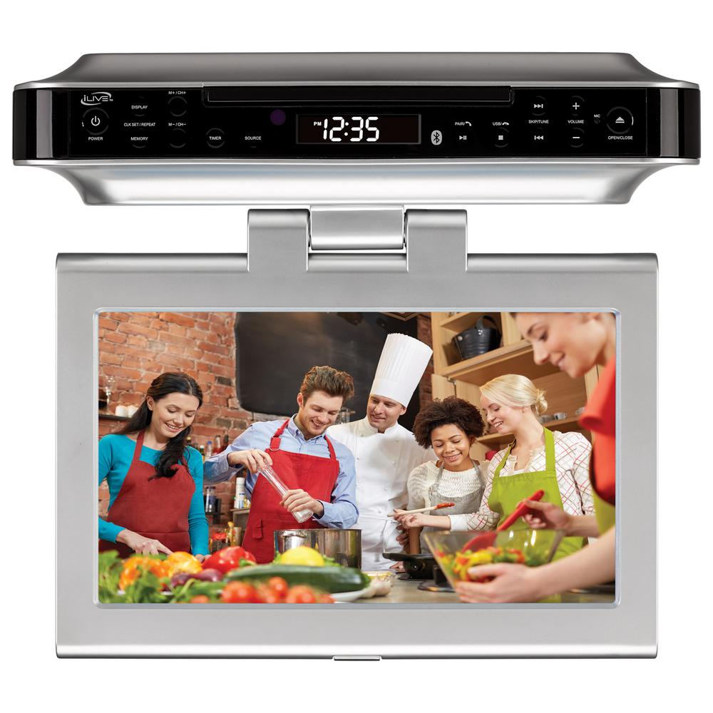 kitchen televisions under cabinet ilive bluetooth wireless the counter cabinet kitchen 22069