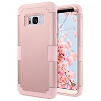 Galaxy S8 Case, ULAK Hybrid Shock Absorbing Shock Dust Dirt Proof Rugged Hard Case Soft Silicone Cover for Samsung Galaxy S8, Rose Gold