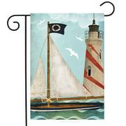 "Sailing Summer Garden Flag Nautical Lighthouse 12.5"" x 18"""