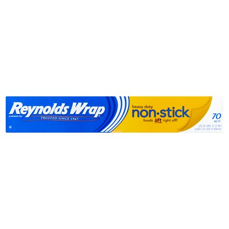(2 pack) Reynolds Wrap Non-Stick Aluminum Foil (70 Square Foot Roll)