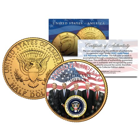 LIVING PRESIDENTS *Americana* JFK Half Dollar Coin 24K Gold Plated JIMMY