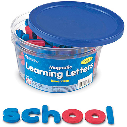 Lowercase Magnetic Foam Learning Letters
