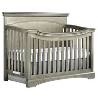 Evolur Catalina Flat Top Collection 4 in 1 Convertible Crib, Pewter