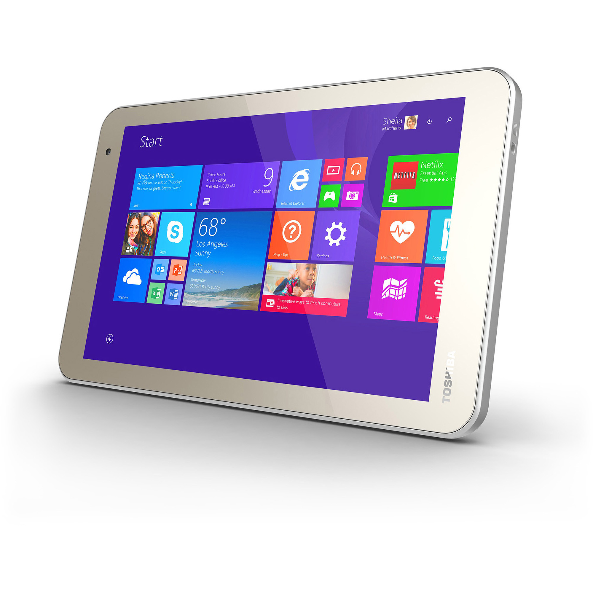 "Toshiba Encore 2 8"" Tablet 32GB Intel Atom Z3735F Quad-Core Processor Windows 8.1"