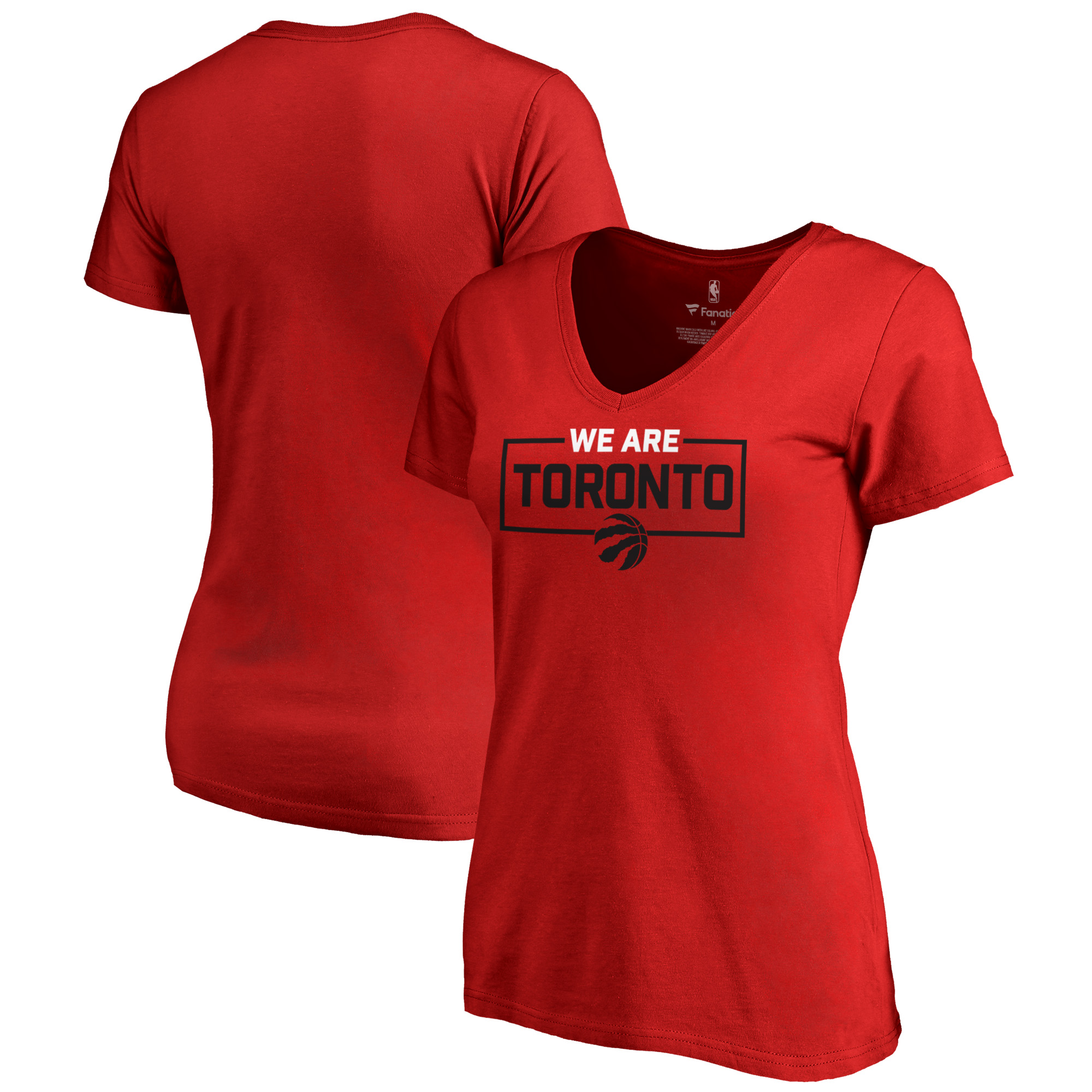 Toronto Raptors Fanatics Branded Women's We Are Iconic Collection V-Neck T-Shirt - Red