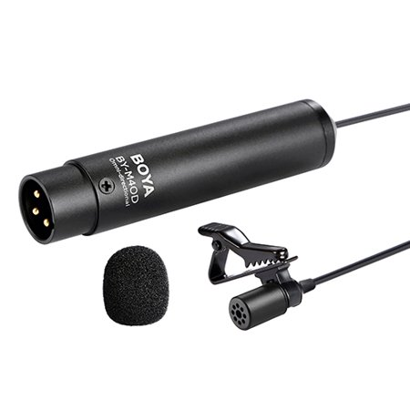 Camcorders Lavaliere (BOYA BY-M40D Omni-directional Lavalier Microphone Mic for Sony Panasonic Camcorder Audio Recorders)