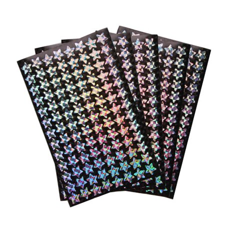 Sticker Incentive Silver Hologrpahic Star - Star Stickers