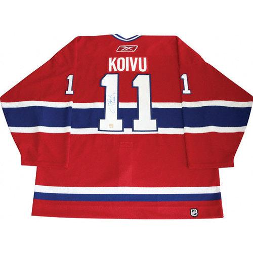 NHL - Saku Koivu Montreal Canadiens Autographed Authentic Jersey