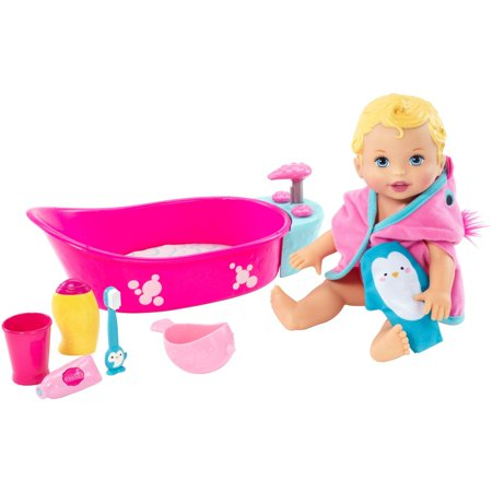 Little Mommy Bubbly Bathtime Deluxe Baby Doll Playset - Little Girl Baby Doll Halloween Makeup