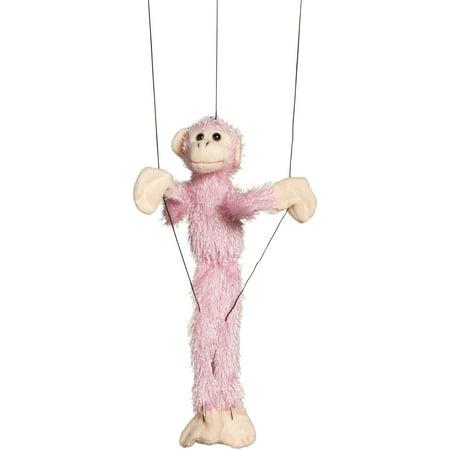 16 In. Fuzzy Monkey - Pink, Small, - Funky Punk