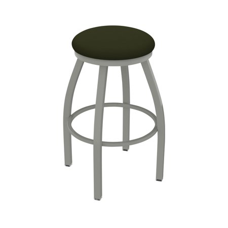 Holland Bar Stool Co XL 802 Misha 25 in. Faux Leather Swivel Counter Stool Iron Leather Saddle