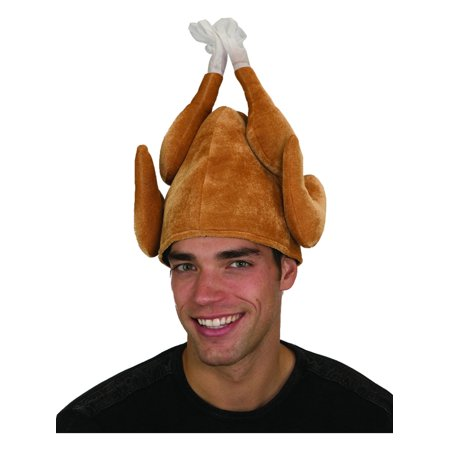 Funny Plush Stuffed Roasted Turkey Thanksgiving Party Hat Cap Costume