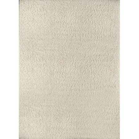 Contemporary Shag Flokati Ivory Area Rug Solid Modern
