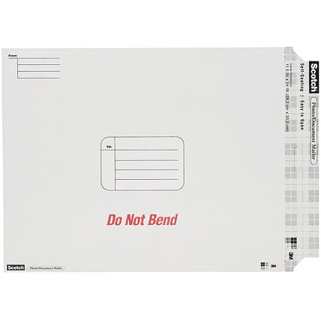 "Scotch Photo Document Mailer 11.5""x14""-white"