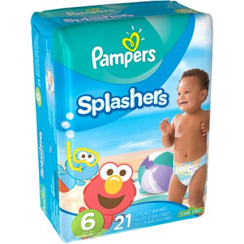 21-Count Pampers Size 6 Splashers Swim Diapers