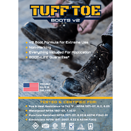 Tuff Toe Boot V2 Heavy Duty Protector Guard Cover Dip| Shoe Repair Glue