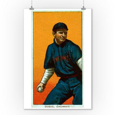 Cincinnati Reds   Jean Dubuc   Baseball Card  9X12 Art Print  Wall Decor Travel Poster