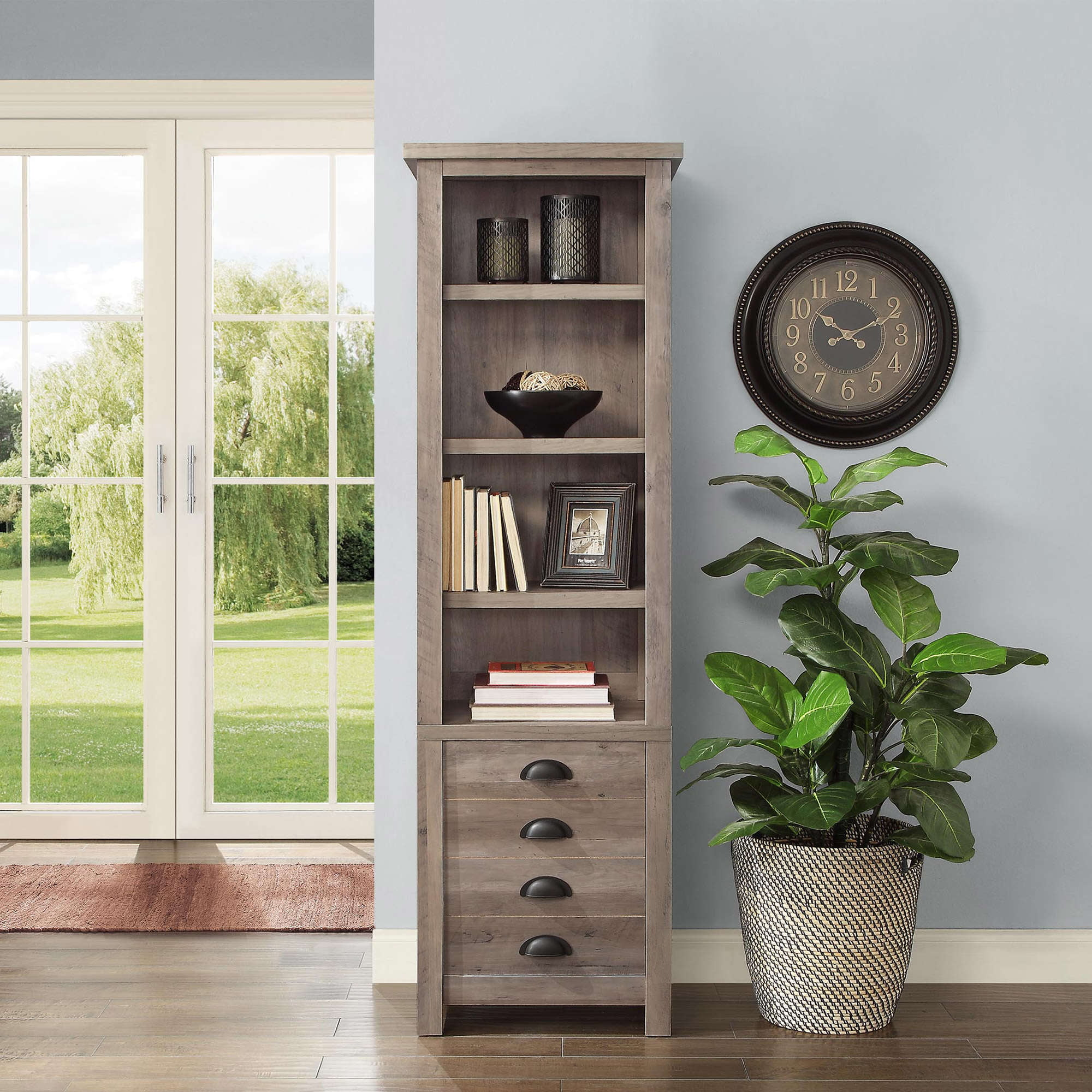 media reviews walmart com product mainstays finishes bookcases multiple storage tower bookcase